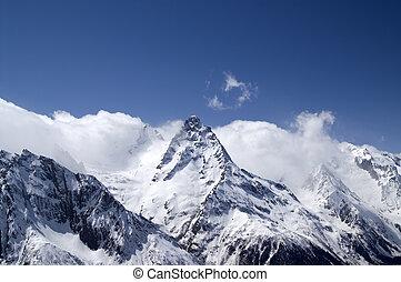 dombay., montagne., hight, caucasus