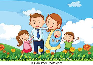 dombok, család