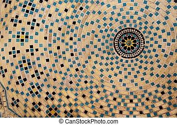 Dome - A decorated dome in Iran