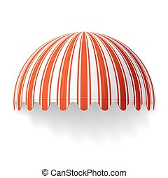 Vector illustration of a dome awning