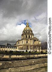 Dome des Invalides - PARIS, FRANCE - APRIL 2, 2010: The...