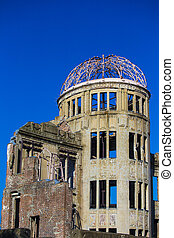 dome., hiroshima., bombe, atomar, japan