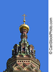 Dome of Cathedral in Peterhof, Russia