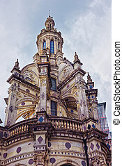 Dome of Chateau de Chambord palace in Loire valley France