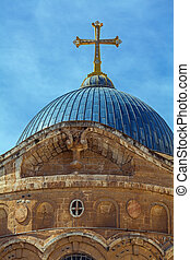 Dome of Holy Sepulchre Cathedral, Jerusalem