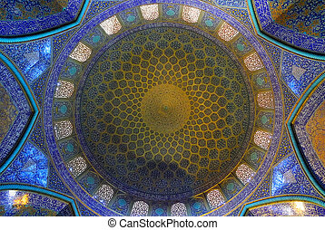 Dome of Mosque Ghal-e-Tabarok a Isfahan: Iran