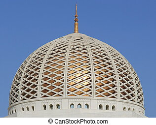 Dome of mosque in Oman, Arabia
