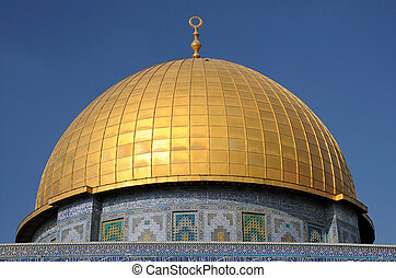 Dome of Rock Mosque in Jerusalem - Dome of the Rock Mosque...