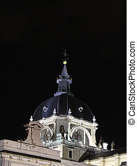 Dome of the Cathedral of Almudena in Madrid