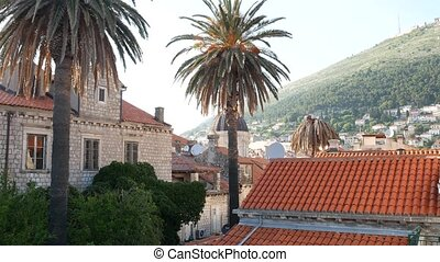 The dome of the Catholic Cathedral of the Ascension of the Virgin Mary in Dubrovnik, Croatia.