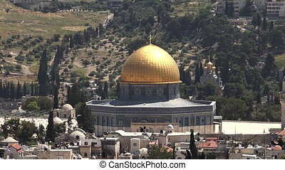 Dome of the Rock Mosque on Temple Mount Jerusalem Israel -...