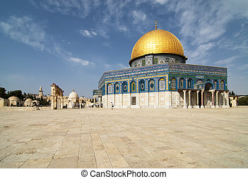 """The mosque """"The dome of the rock"""" in Jerusalem"""