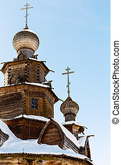 dome of the wood Transfiguration Church in Suzdal