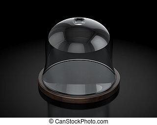 Dome on a black background. 3d illustration.