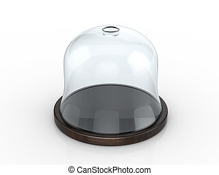 Dome on a white background. 3d illustration.