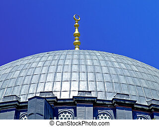 Dome ornament - Golden ornament on a top of mosque dome