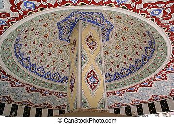 Dome of turkish fountain inside, Turkey