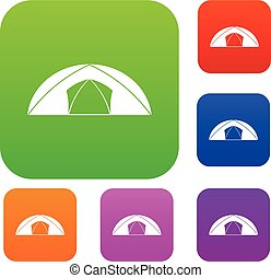 Dome tent for camping set color collection