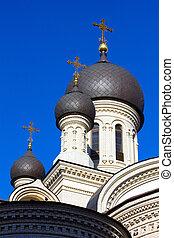 Dome Valaam monastery in St. Petersburg, Russia