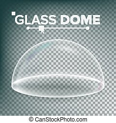 Dome Vector. Advertising, Presentation Glass Design Element. Template Mockup. Realistic Isolated Transparent Illustration