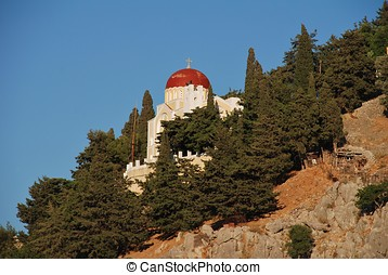 Domed church, Symi - A domed church on the hills above...