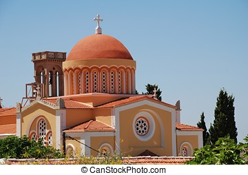 Domed church, Symi island - The domed church at Chorio on...