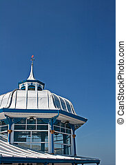 Domed roof on the end of Llandudno pier, Wales