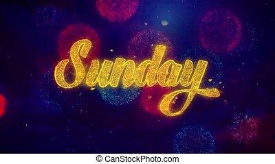 domenica, augurio, testo, scintilla, particelle, su,...