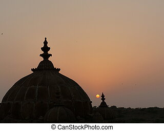 Domes at sunset