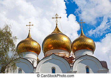 Domes of Assumption cathedral at Yaroslavl