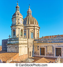 Domes of Cathedral of Catania - Domes of Saint Agatha...