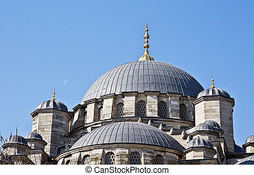 Domes of New mosque in Istanbul