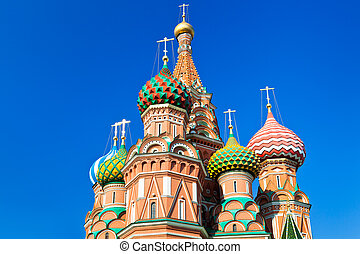 domes of Saint Basil's Cathedral in Moscow