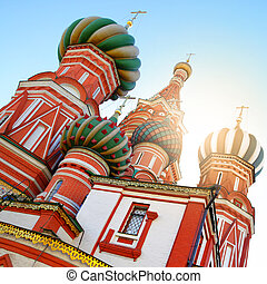 Domes of St. Basil's cathedral in Moscow