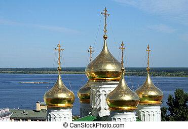 Domes of St John the Baptist Church in Nizhny Novgorod