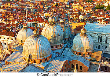 Domes of The Basilica of Saint Mark in Venice