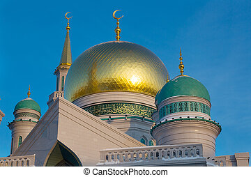 Domes of the Cathedral Mosque in Moscow