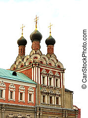 Domes of the church of St. Nicholas in Moscow