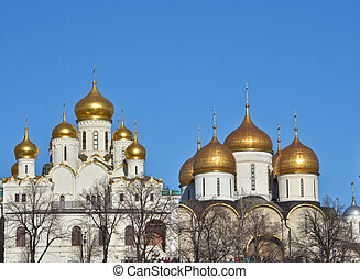 Domes of the Kremlin churches.