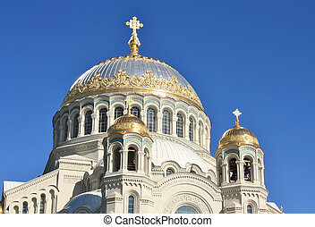 Domes of the Naval Cathedral of St. Nicholas