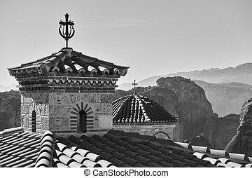 Domes of Varlaam monastery in Meteora