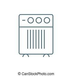 Domestic air-conditioner linear icon concept. Domestic air-conditioner line vector sign, symbol, illustration.