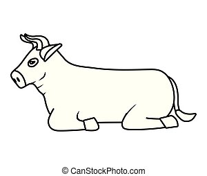 domestic animal cartoon - domestic animal bull cartoon...