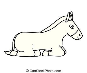 domestic animal cartoon - domestic animal donkey cartoon...