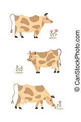 Domestic animal icon - Domestic Animal icon set. Dairy...