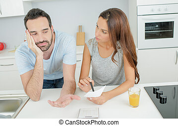 domestic argument between couple