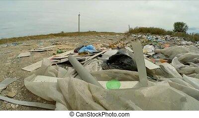 Domestic Garbage Dump At Landfill In Ukraine