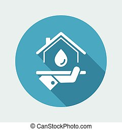 Domestic hydraulic services - Vector web icon