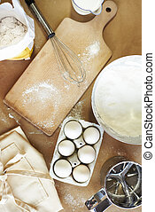 Domestic kitchen and baking ingredients