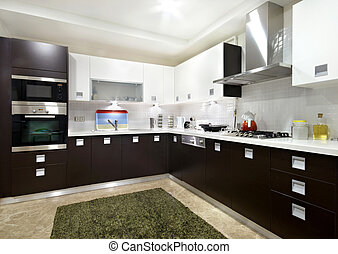 Domestic Kitchen in the residential structure